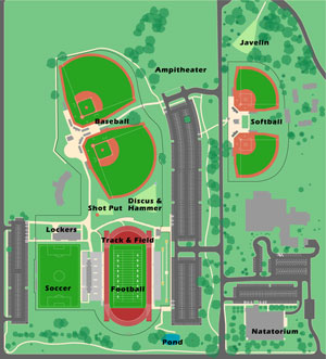 Hummer Sports Park Facilities Map